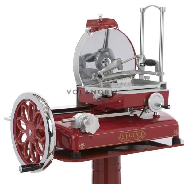 old red flywheel slicer
